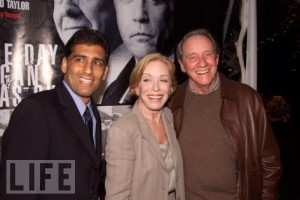 Writer/Director Cyrus Nowrasteh with Holland Taylor (Nancy Reagan) and Richard Crenna (President Reagan) at the Paramount/Showtime premiere.